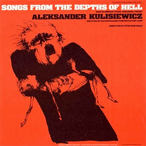 Copertina cd canzoni sulla Shoah Aleksander Tytus Kulisiewicz, Songs from the Depths of Hell (1979)
