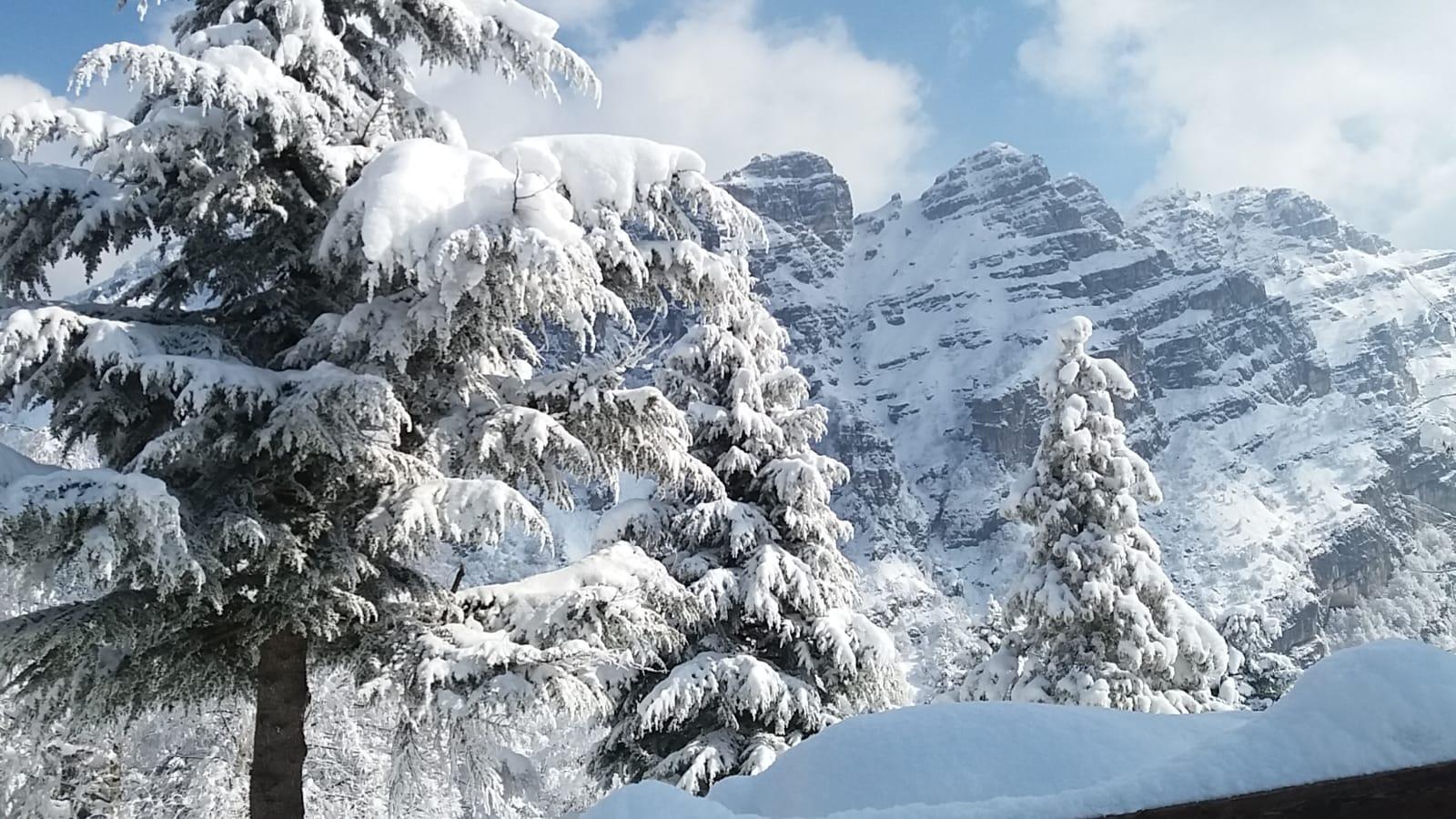 Piani d'Erna Lecco con neve anni 2000