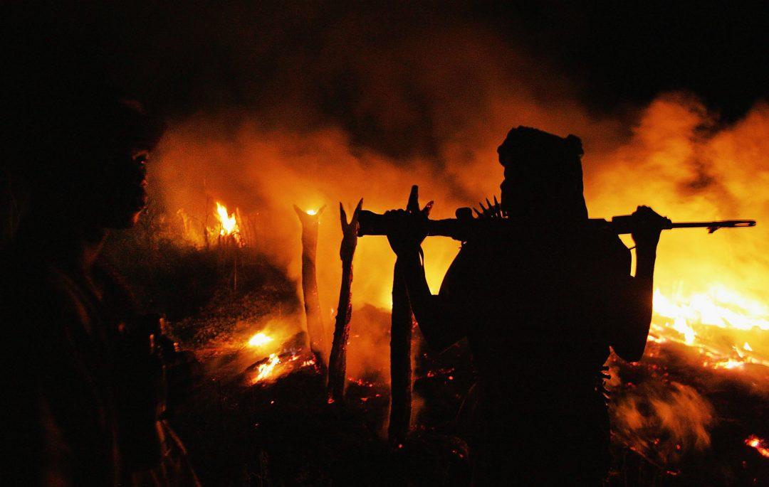 Il villaggio di Chero Kasi, in Darfur, distrutto dai Janjawid