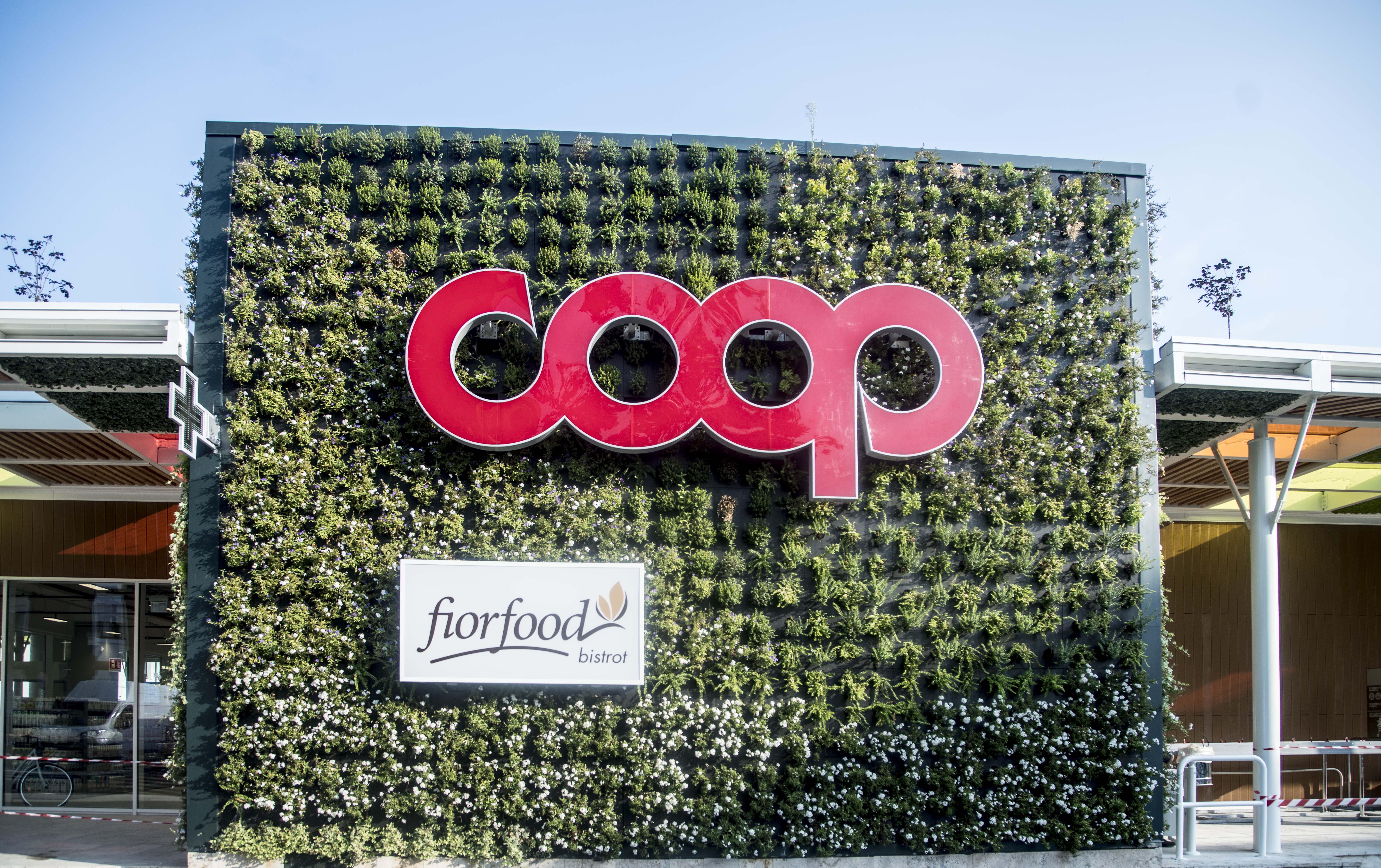 L'area su cui sorge il supermercato autism friendly è recuperata con un'operazione di riqualificazione urbana nel segno della sostenibilità ambientale © Coop Lombardia