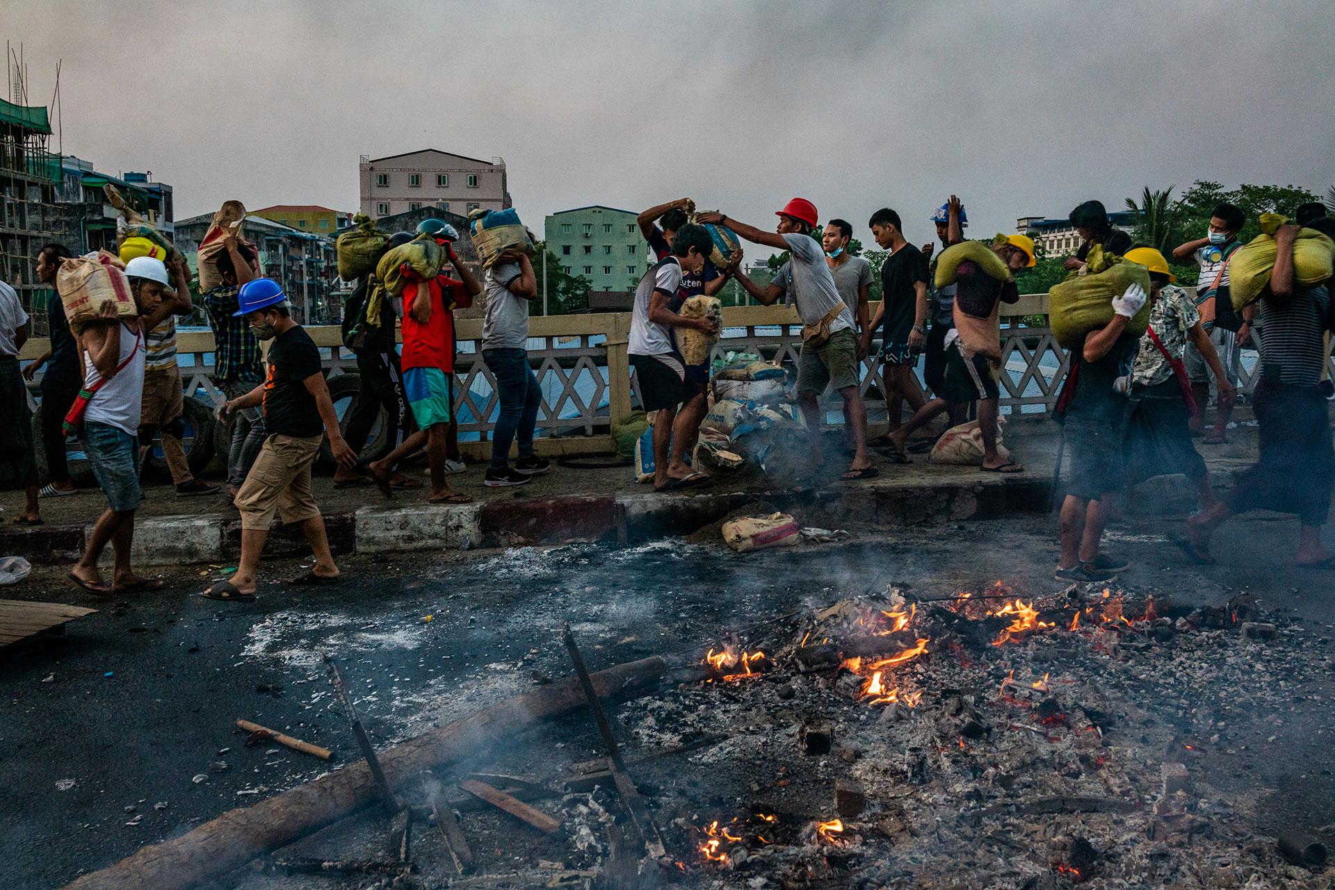 proteste nel Myanmar