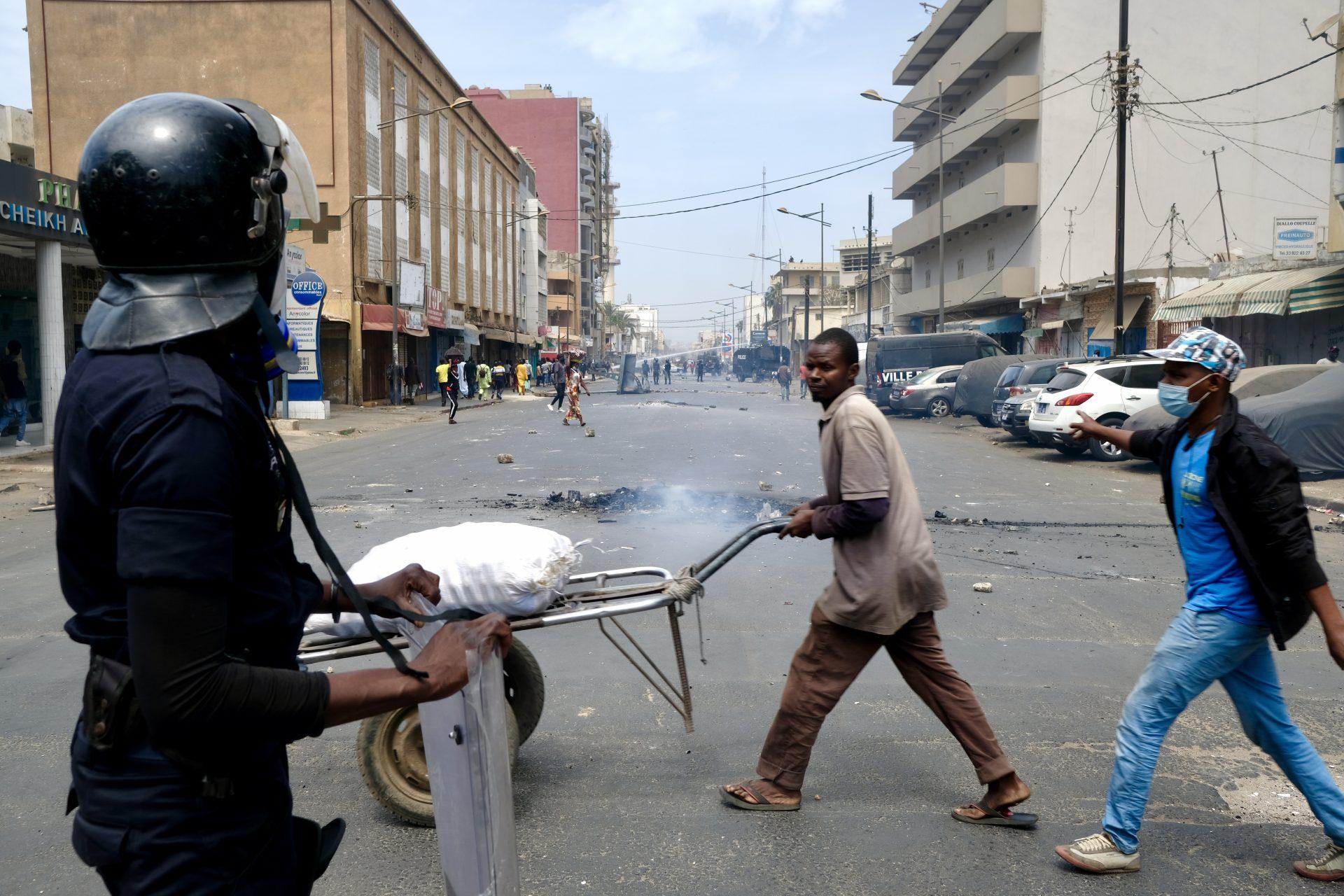 Le proteste a Dakar, in Senegal