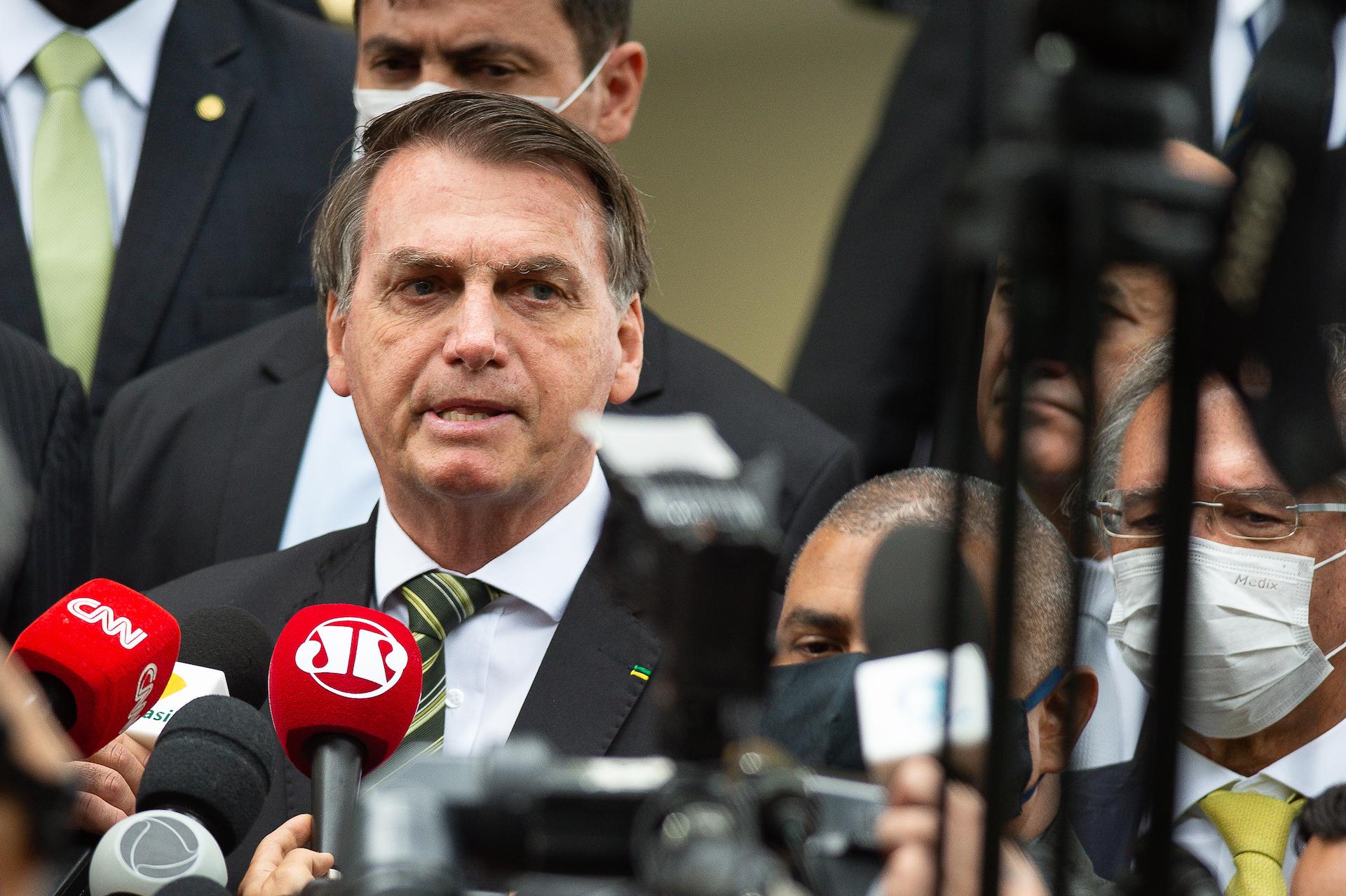 Presidente brasiliano Jair Bolsonaro