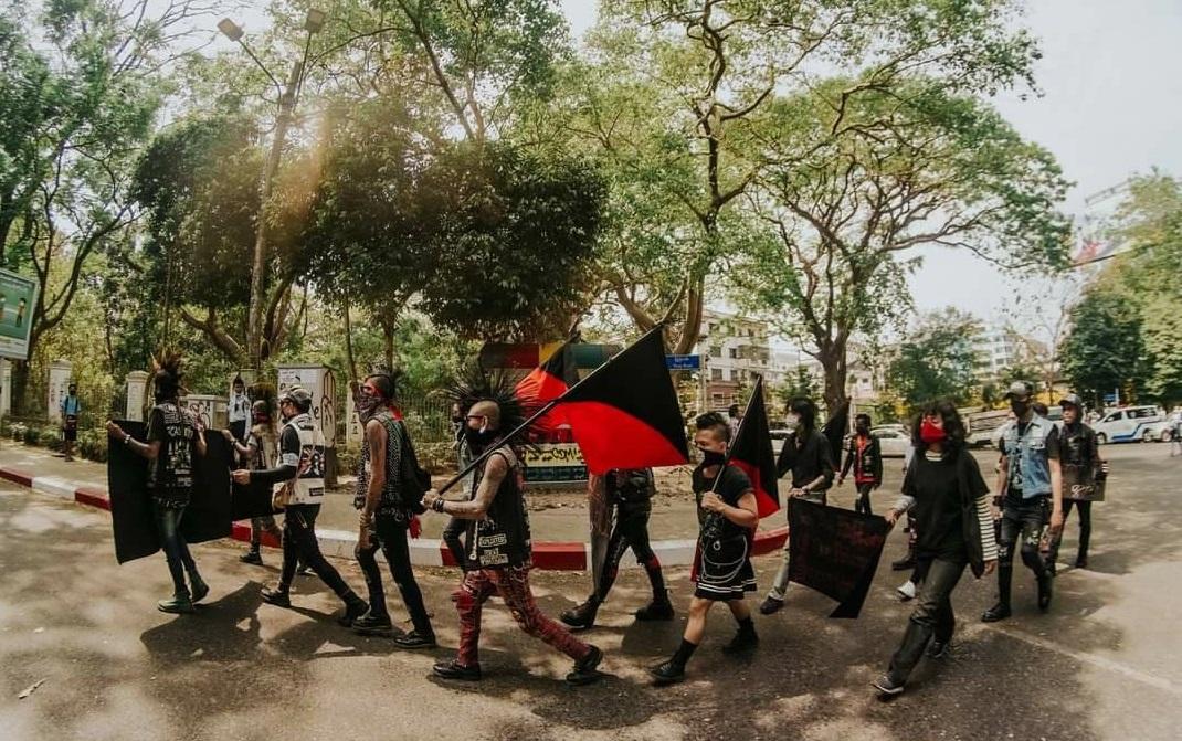 Gruppo punk Rebel Riot in Myanmar