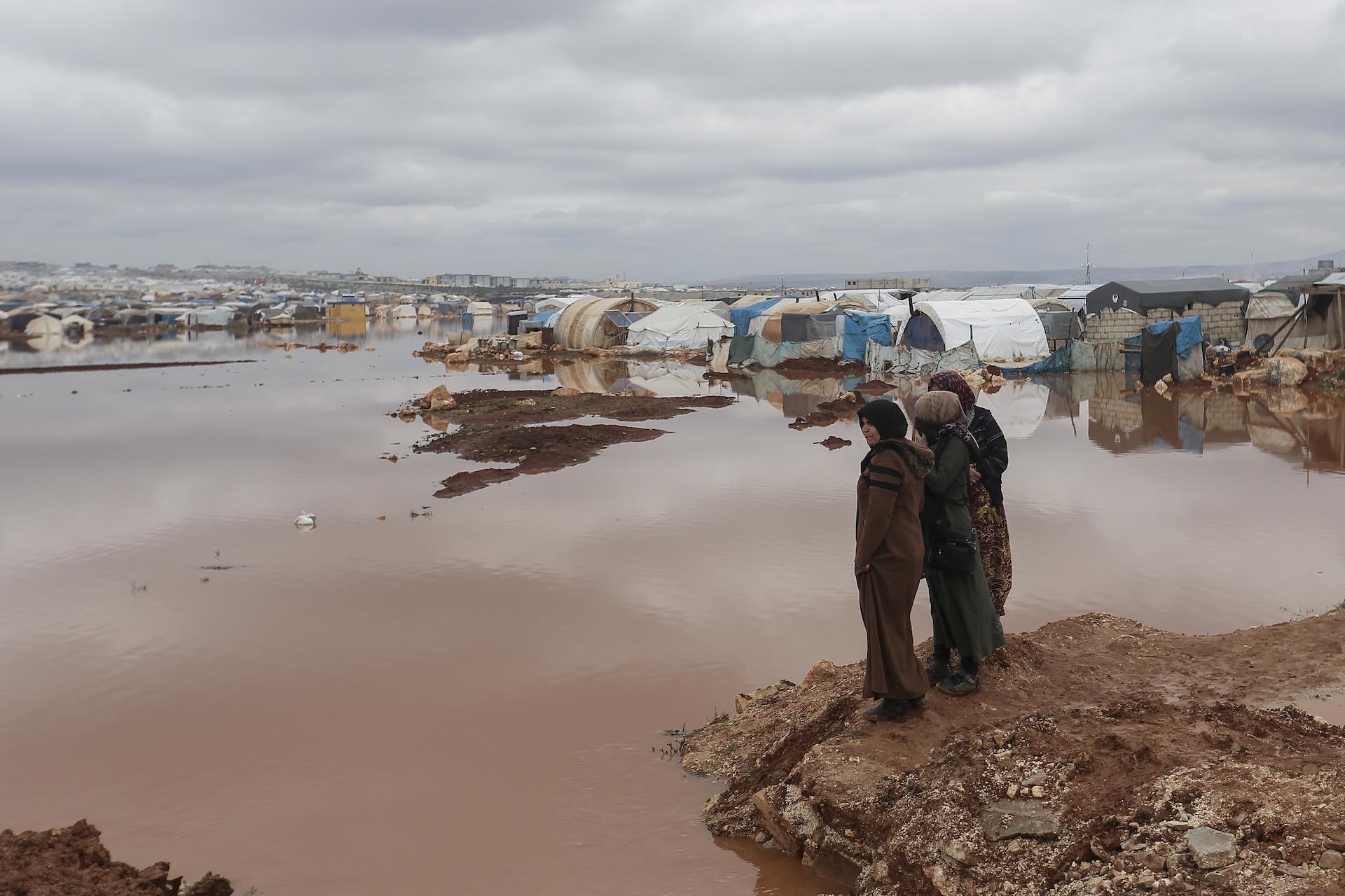 Profughi siriani nel campo di Kafr Losin