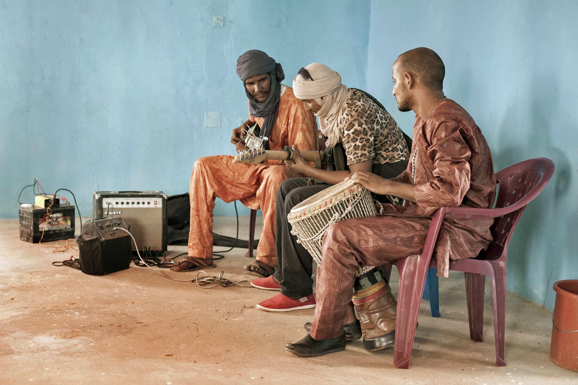 Khalab & M'Berra Ensemble in fase di registrazione
