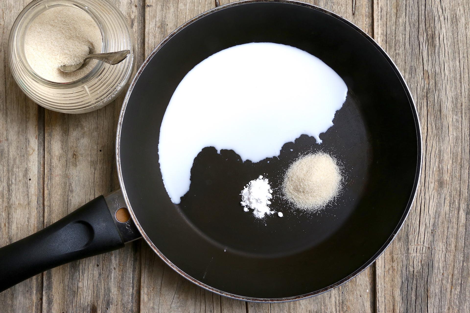 Cottura latte di cocco © Beatrice Spagoni