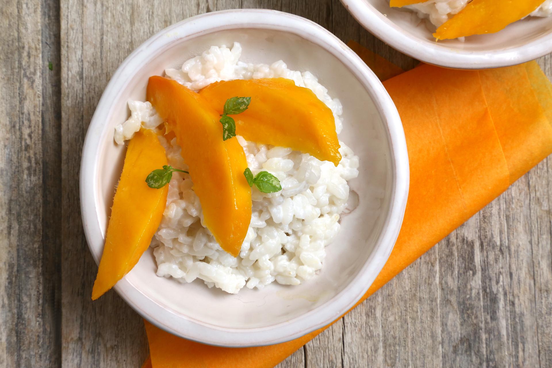 Mango sticky rice pronto © Beatrice Spagoni