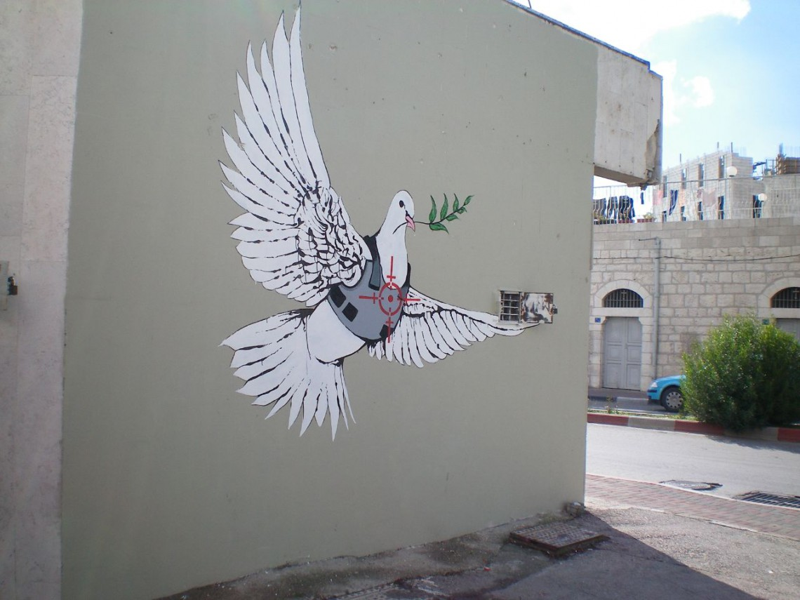 Banksy Armoured Peace Dove