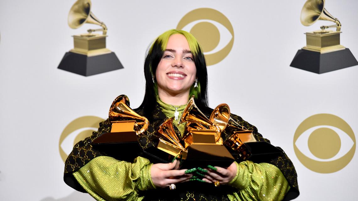 Billie Eilish premiata ai Grammy Awards 2020
