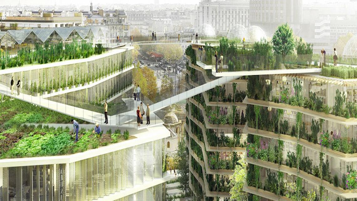 Parigi sempre pi verde con piazze oasi e giardini pensili for Esempi di giardini