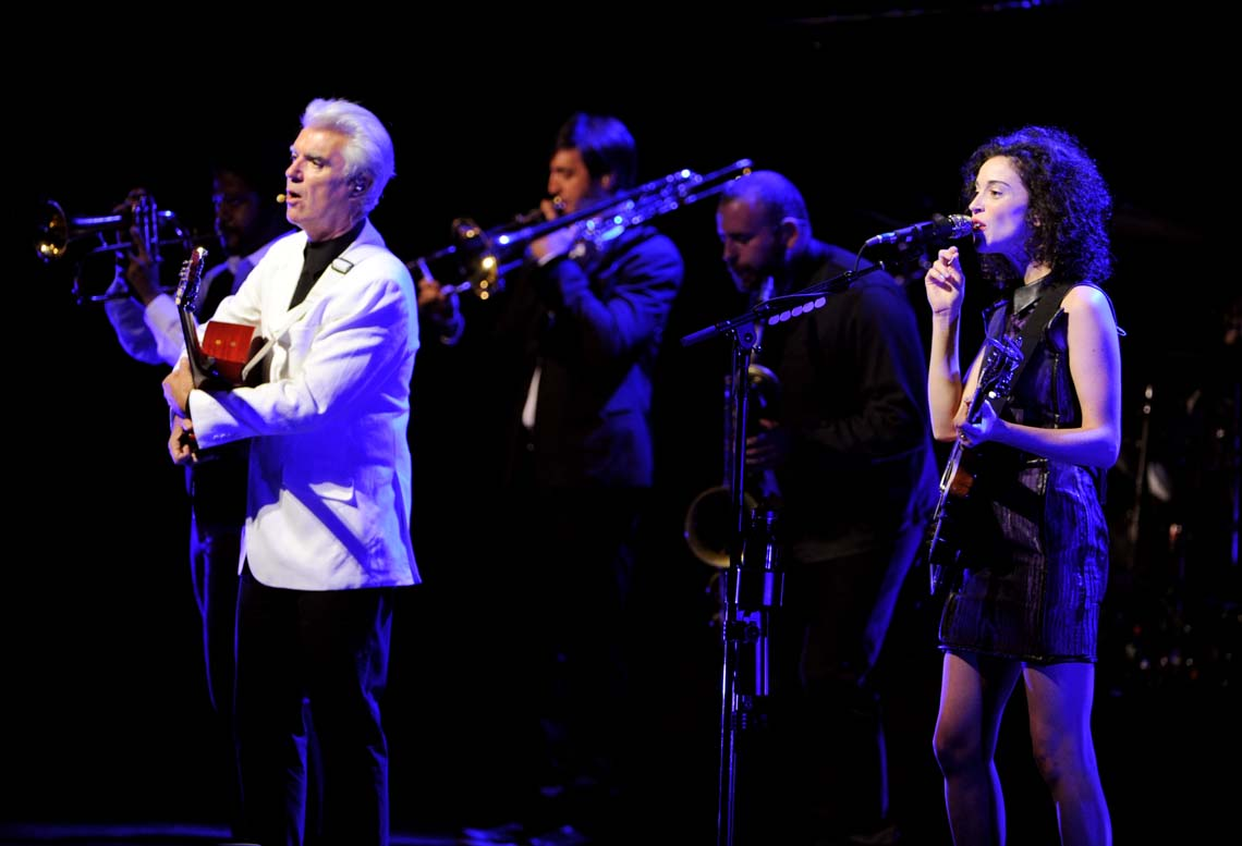 David Byrne e St. Vincent in concerto a Los Angeles