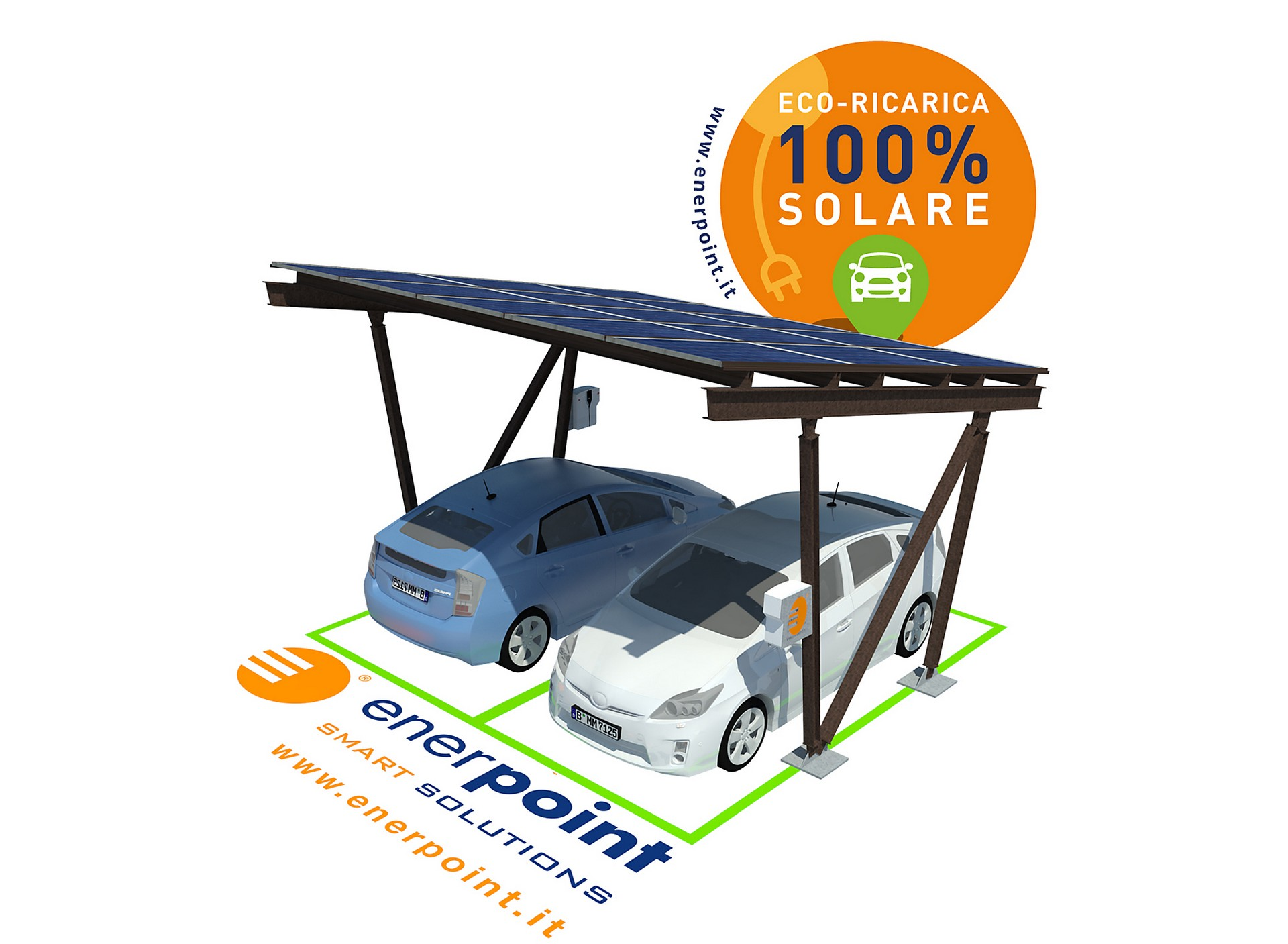 """Pannello Solare Per Ricaricare Auto Elettrica : Un """"pieno solare per l auto elettrica con enerpoint e"""