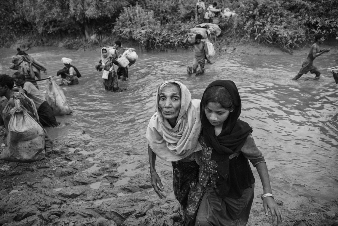 Esodo Rohingya. Novembre 2017. ©Kevin Frayer/Getty Images
