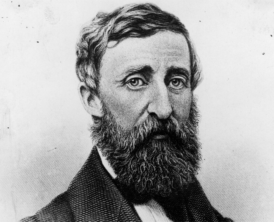 Henry Thoreau nel 1850, (foto di Hulton Archive/Getty Images)