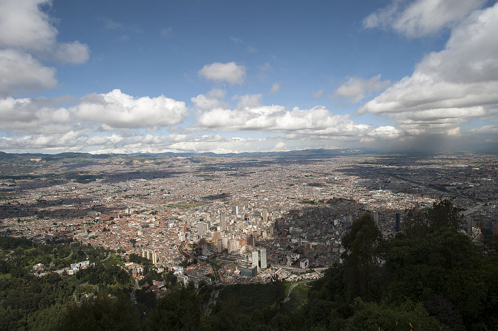 BOGOTÀ, COLOMBIA - 2012/04/25: View of Bogotà from Monserrate Hill, Colombia. (Photo by Wolfgang Kaehler/LightRocket via Getty Images)