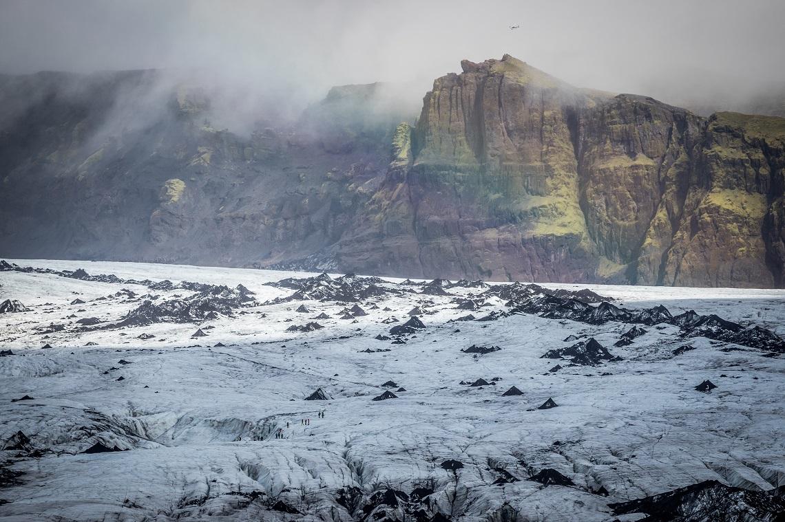 Ghiacciaio Myrdalsjokull, situato nel sud dell'Islanda