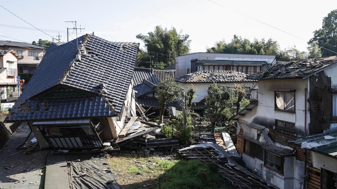 Le immagini del giappone devastato da due terremoti - Foto della bandiera del giappone ...