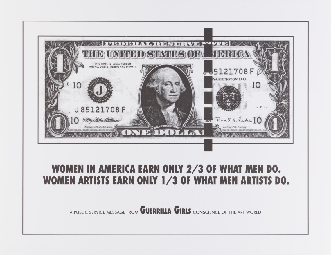 Poster Guerrilla Girls, SFMOMA