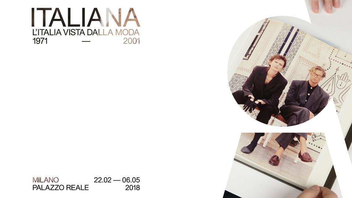 Una delle locandine della mostra sulla moda Italiana a Palazzo Reale