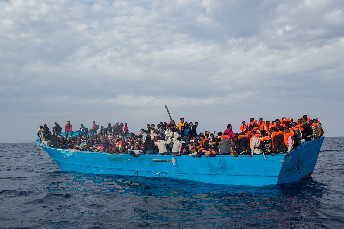 Migranti diretti a Lampedusa