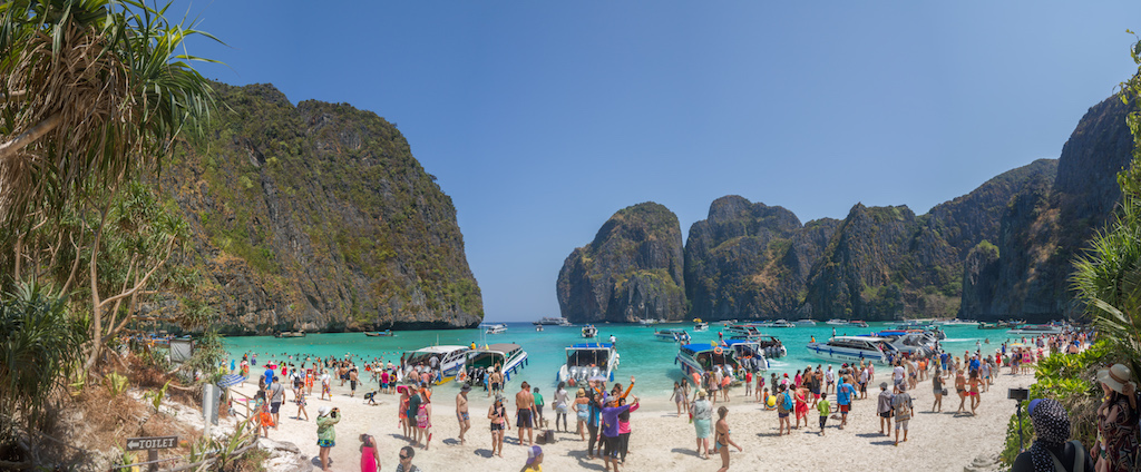 Maya Bay vista panoramica