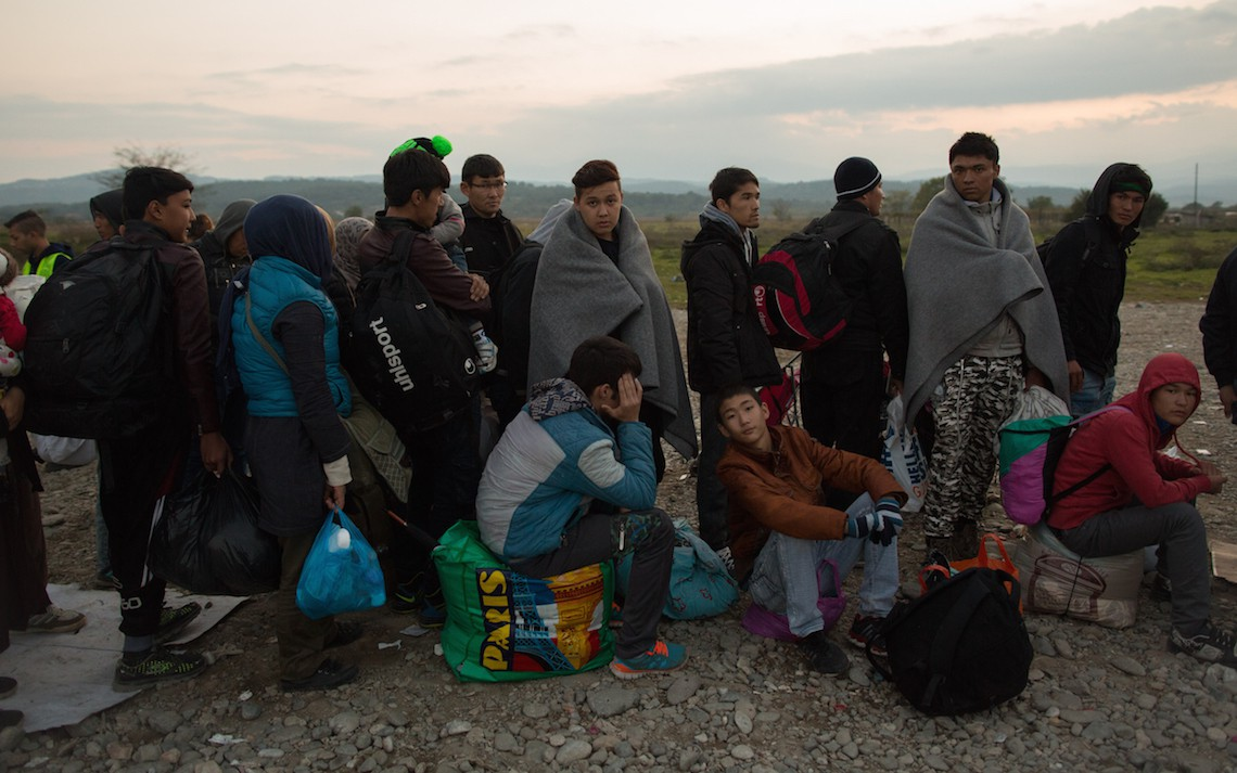 migranti confine macedonia grecia