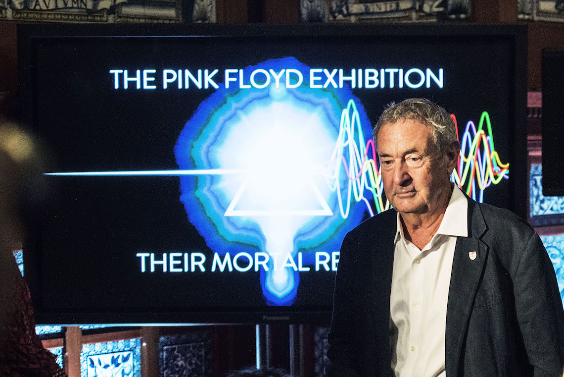 "Nick Mason alla conferenza stampa di presentazione della mostra ""Their Mortal Remains"". Foto by Dave J Hogan/Dave J Hogan/Getty Images."