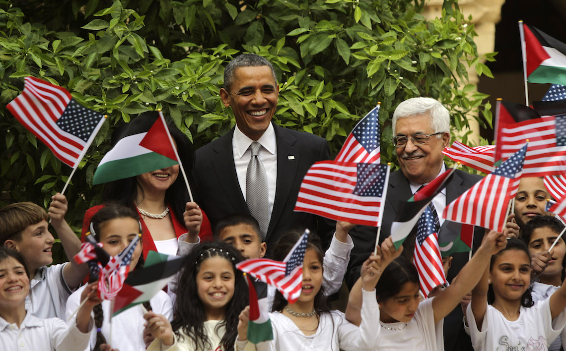 Obama bandiera palestina