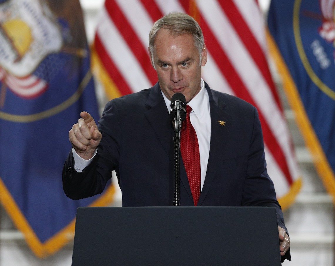 ryan zinke donald trump