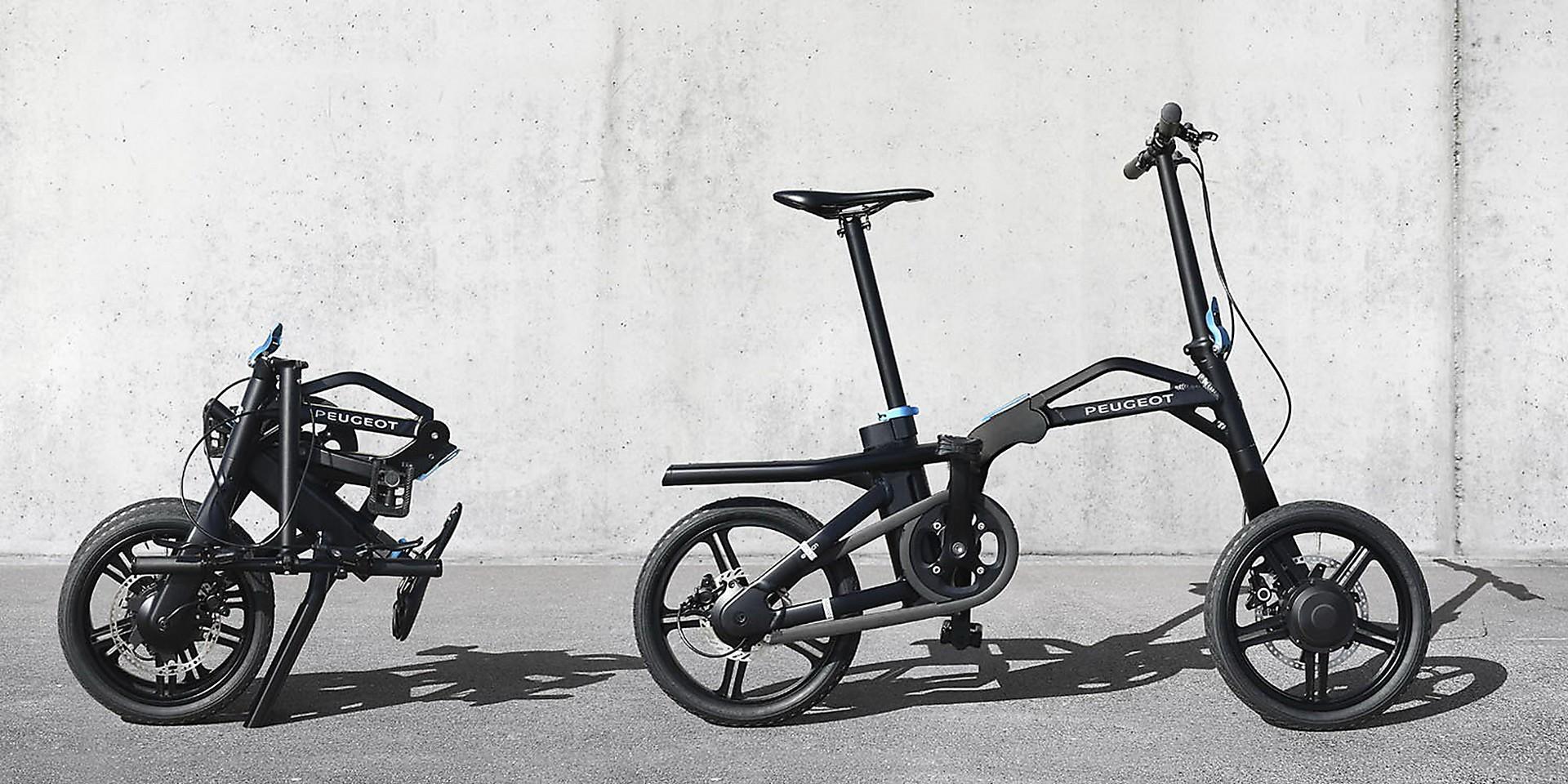 nasce peugeot ef01 la e bike pieghevole per percorrere l. Black Bedroom Furniture Sets. Home Design Ideas