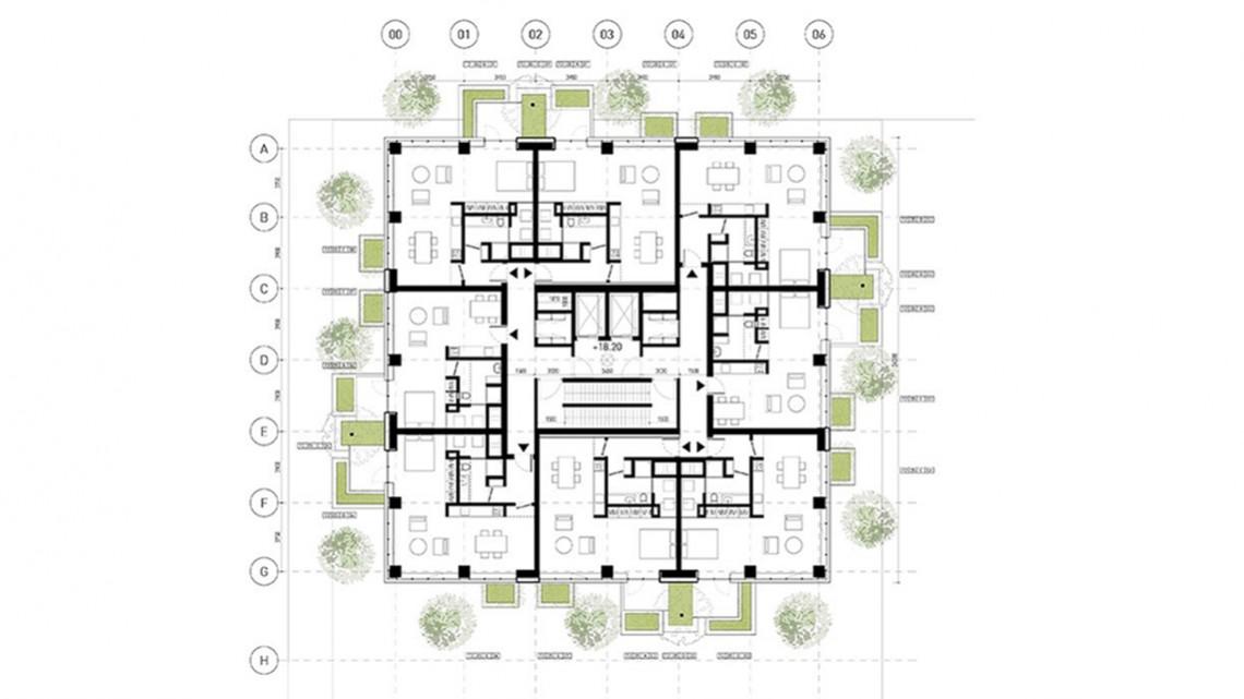 quello di eindhoven il primo bosco verticale dedicato all 39 edilizia popolare con affitti. Black Bedroom Furniture Sets. Home Design Ideas