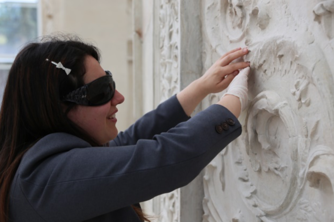Deborah Tramentozzi experiences the ARA Pacis Museum in Rome © Courtesy of Antenna and Tooteko