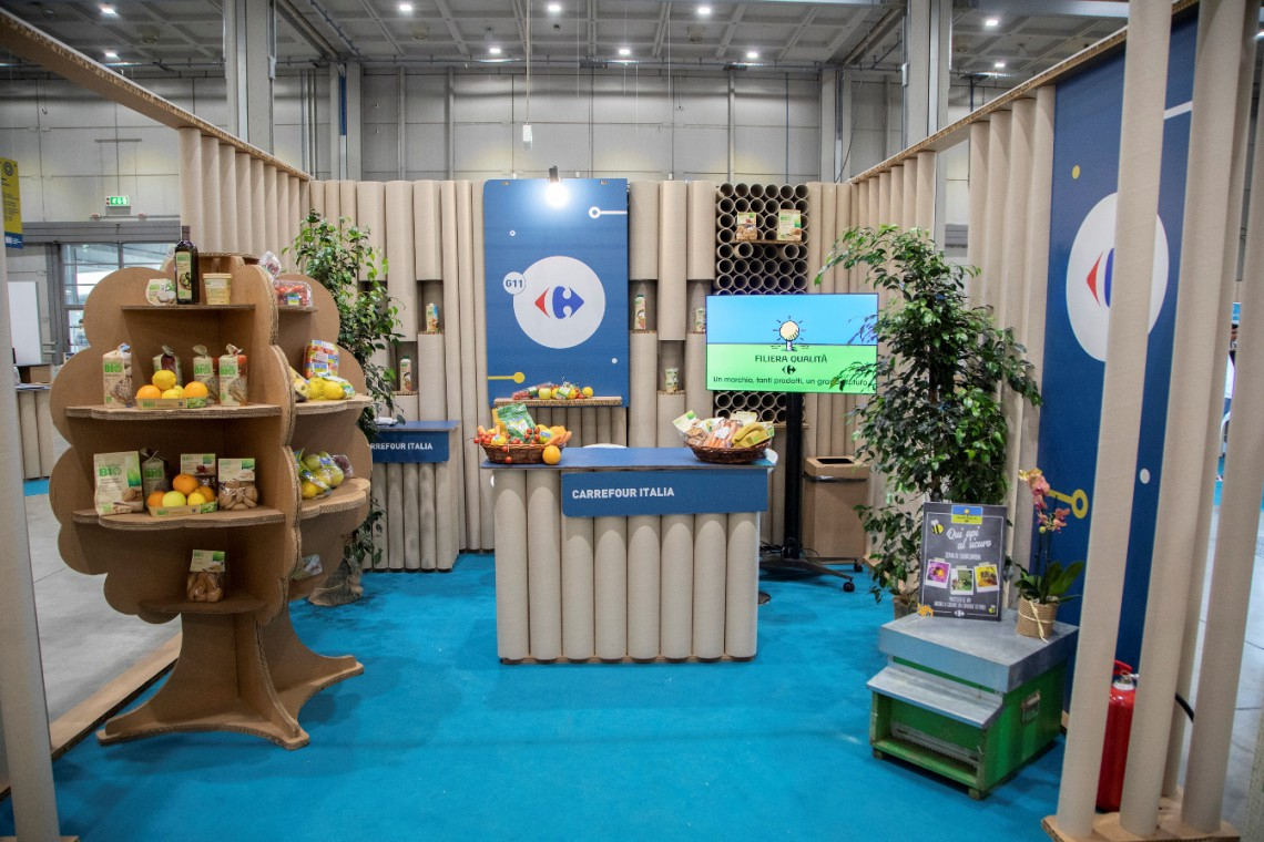 Lo stand di Carrefour Italia a Seeds & Chips 2018