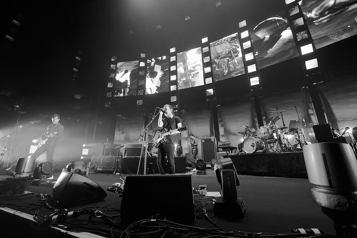 Thom Yorke e i Radiohead al Madison Square Garden. Foto by Kevin Mazur/Getty Images.