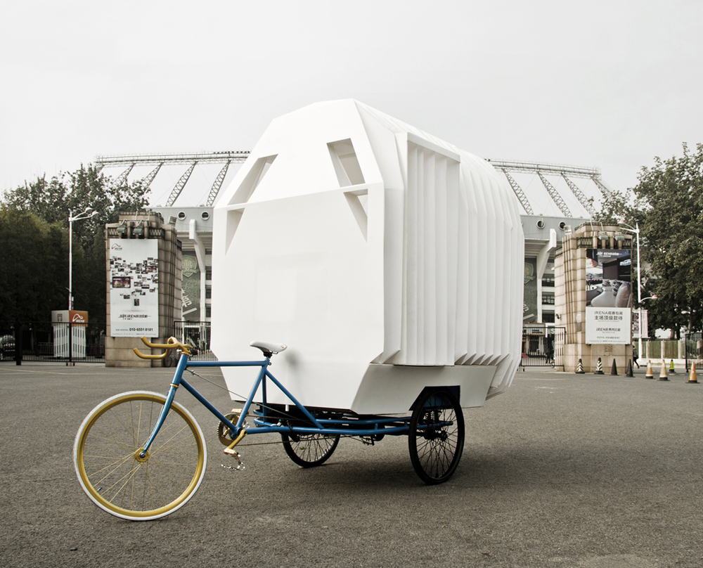 Tricycle house and garden, design nomade