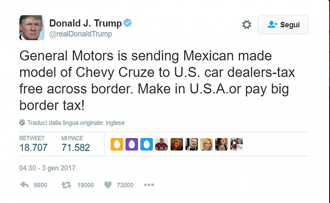 Tweet Trump GM