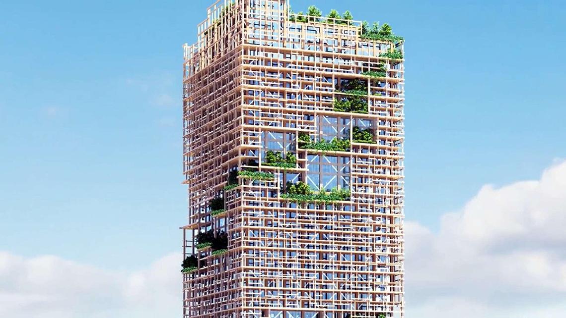 W350 il grattacielo in legno pi alto del mondo sorger a for Grattacielo piu alto del mondo