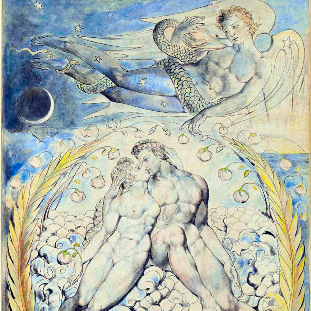 William Blake, Satana osserva Adamo ed Eva, 1822