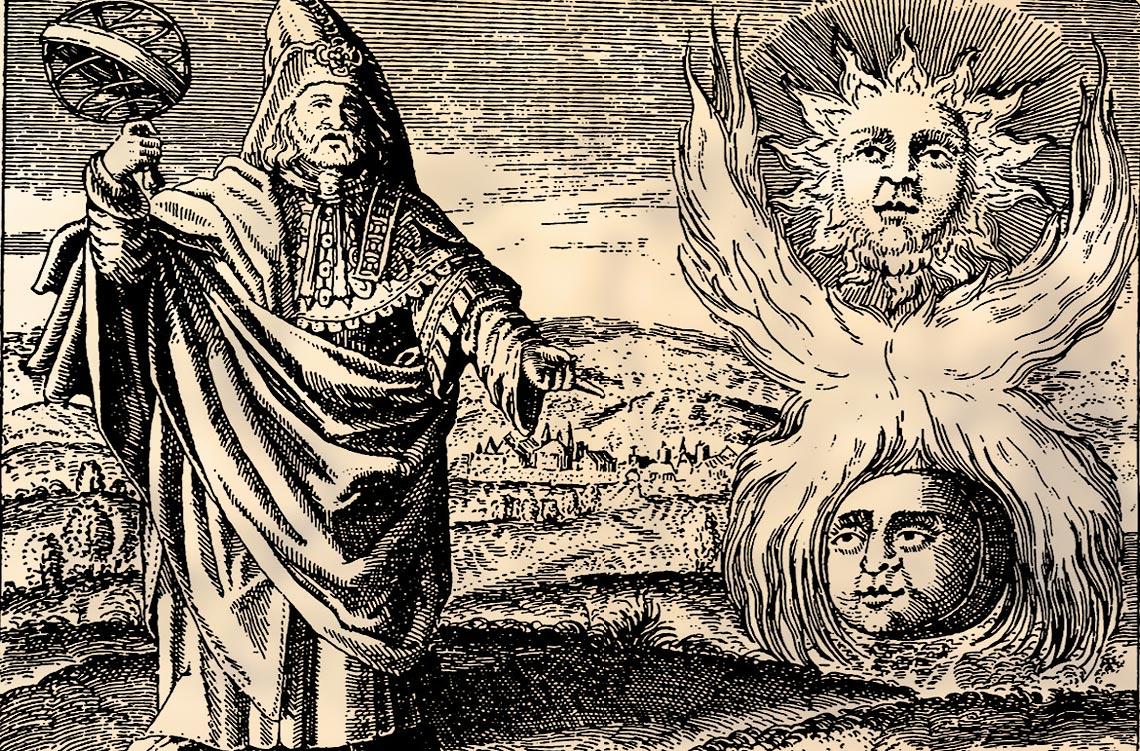 Ermete Trismegisto, scrittore e filosofo egiziano del III secolo, a cui si ricollega il Corpus Hermeticum