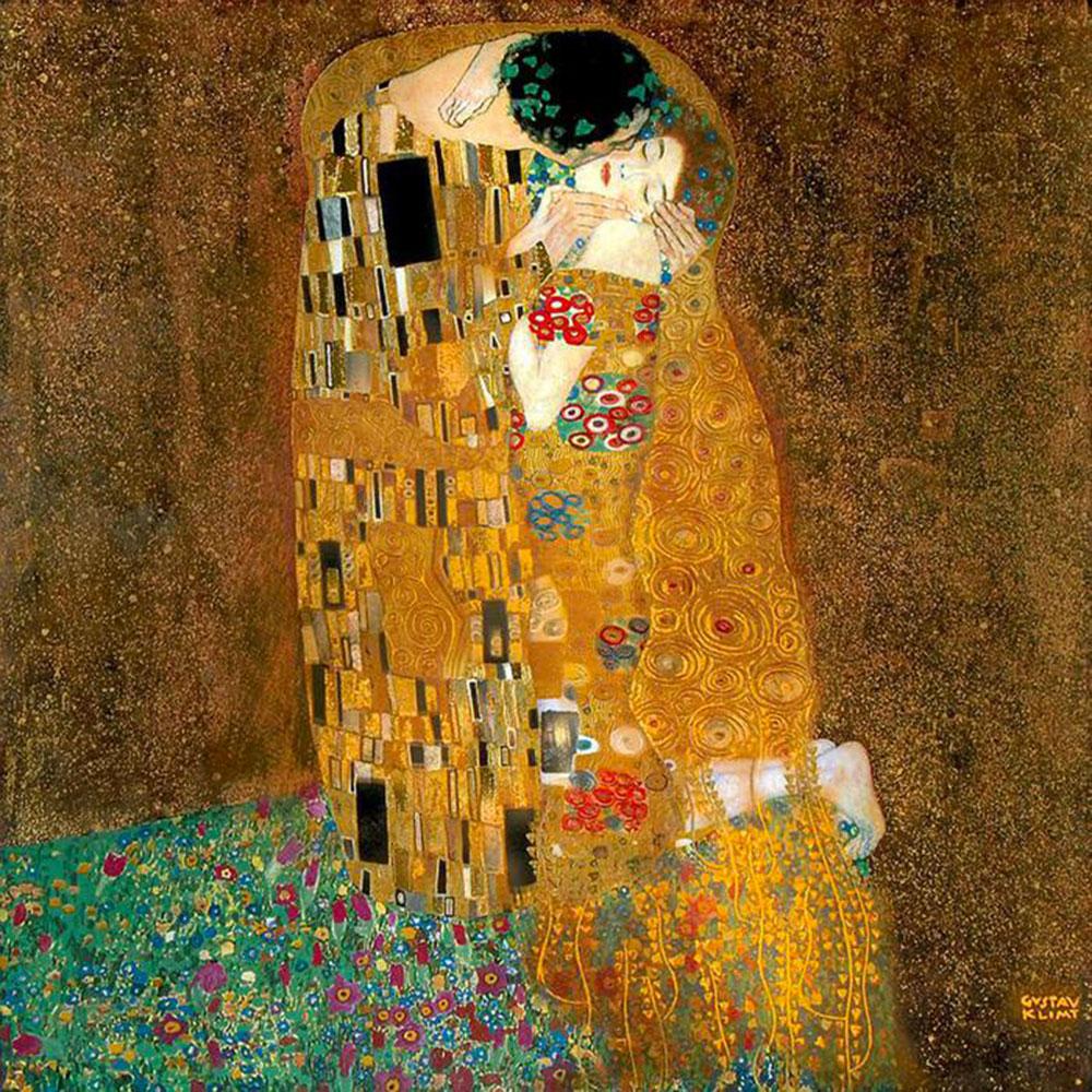 Gustav Klimt, Il bacio, 1908–09