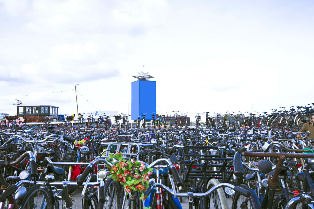 In olanda stanno costruendo una pista ciclabile con la for B b ad amsterdam centro