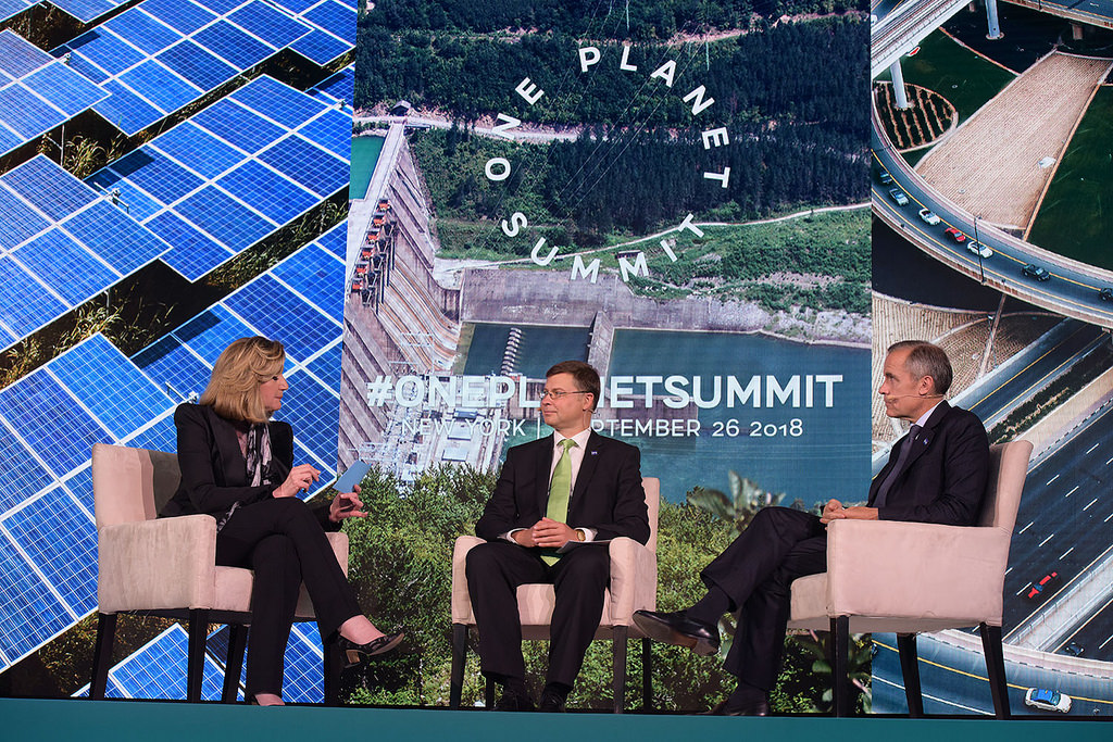 Mark Carney, One planet summit