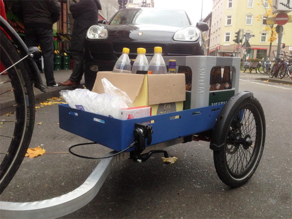 Trasforma la tua bici in cargo bike con trego lifegate - Carrello per bici porta cani ...