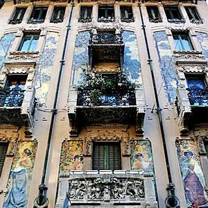 Milano itinerario dedicato all 39 architettura e alla natura in citt - Casa stile liberty ...