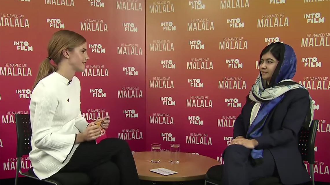 Malala yousafzai intervistata da emma watson quando il for Intervista sinonimo