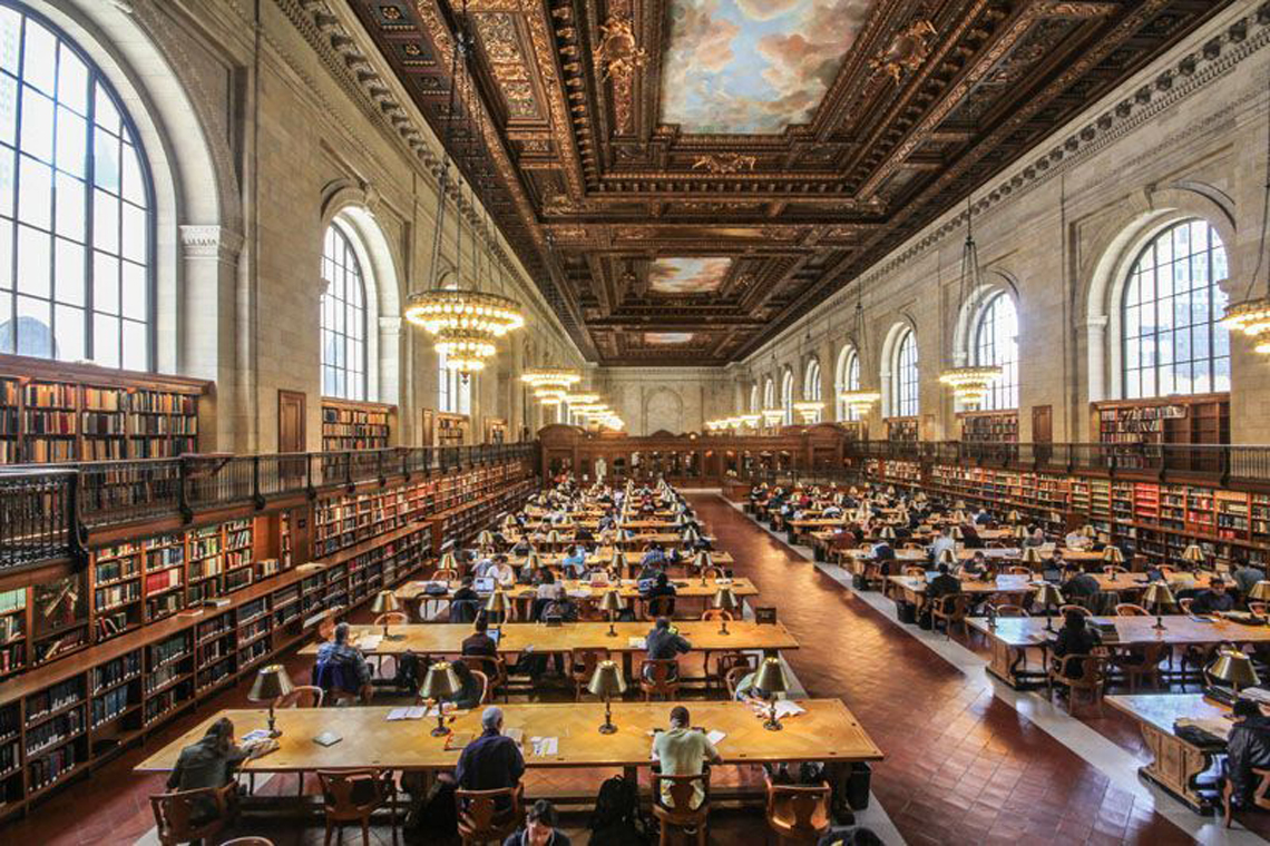 La Rose Main Reading Room della NY Public Library