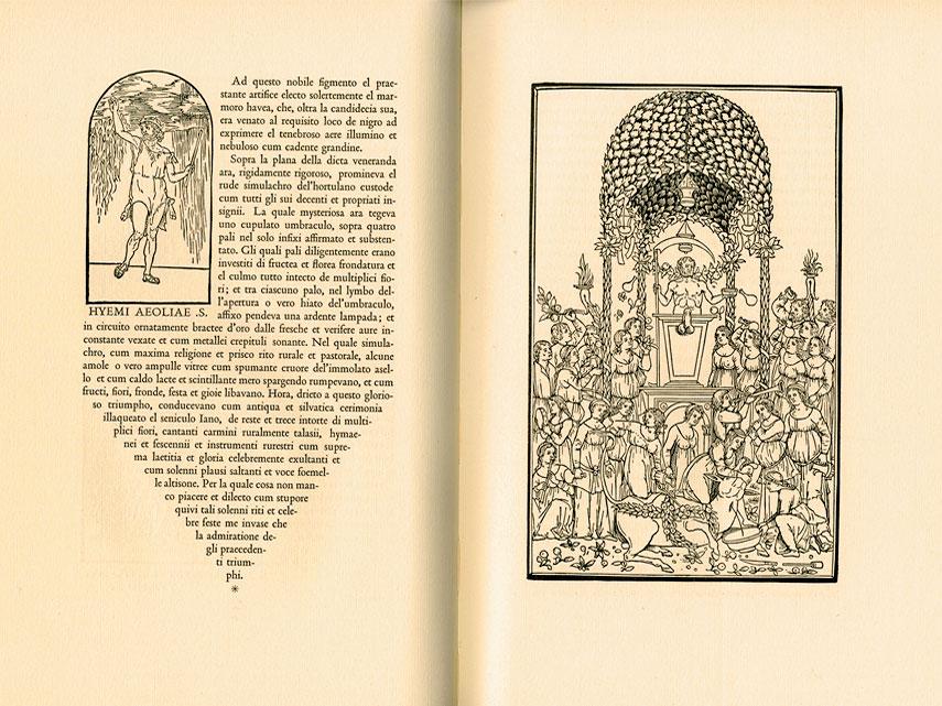 Texto realizado mediante grabado y tipos itálicos