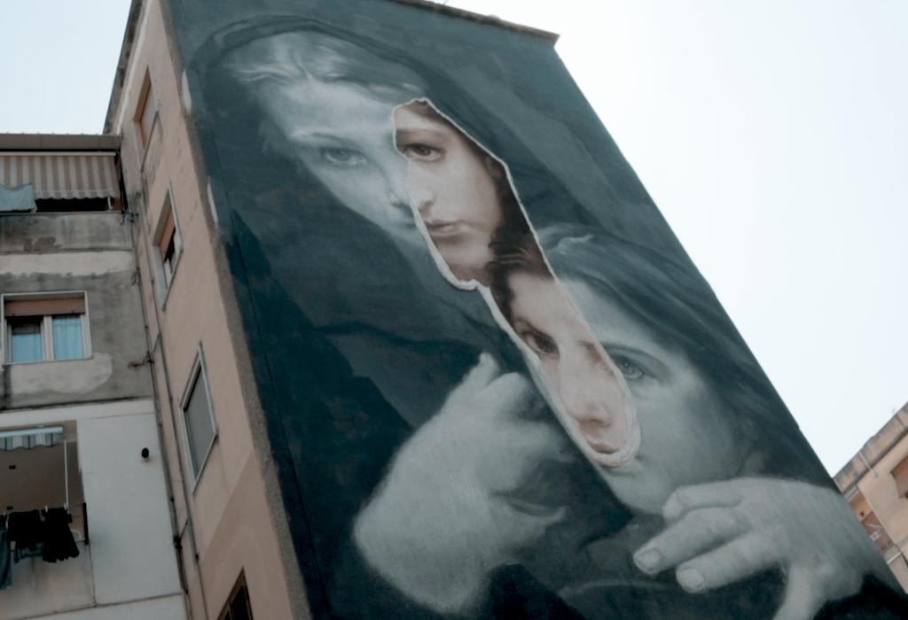 Gomez, rione Luzzatti-Ascarelli, amica geniale, rione dei murales, inward