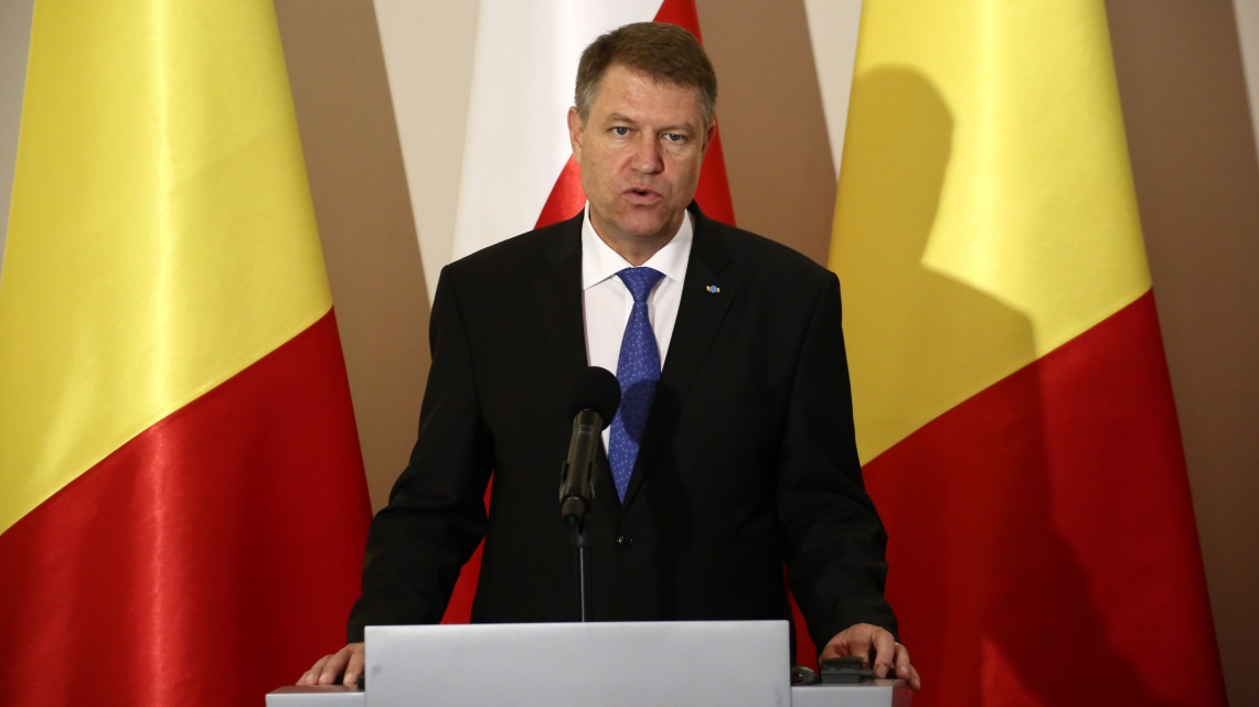 Il presidente Klaus Iohannis in una foto di Jakob Ratz/Pacific Press/LightRocket via Getty Images